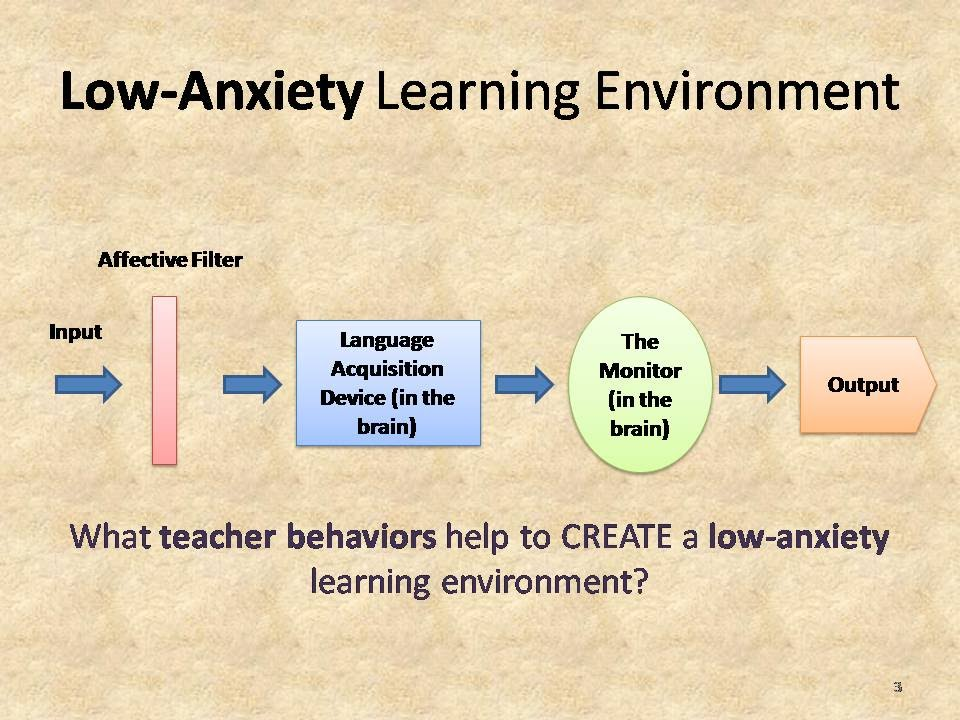 The Role of the Affective Filter in Language Learning