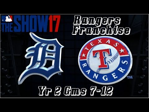 MLB 17 The Show Texas Rangers Franchise Yr 2 - gms 7-12