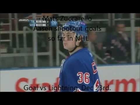 Mats Zuccarello Aasen Shootout goals NHL 10/11