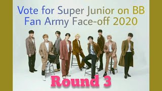 Vote for Super Junior on Billboard Fan Army Face-Off 2020