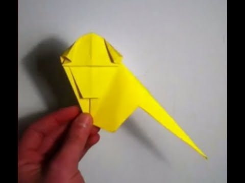 Faire un bébé singe en origami - Fabriquer un singe en papier