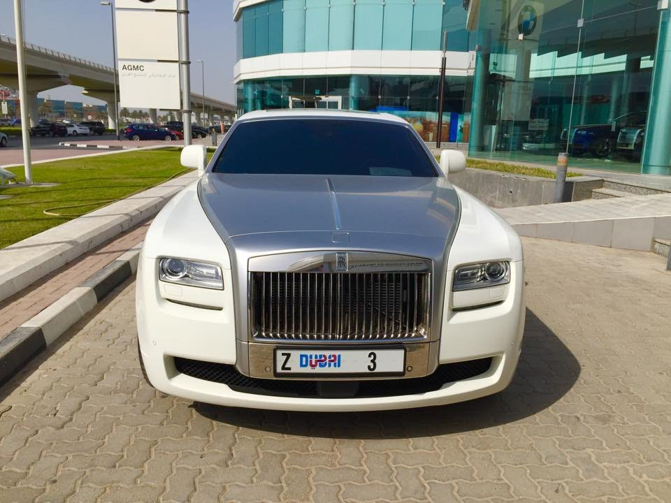 Dubai Number Plate 3 And 5 On Rolls Royces