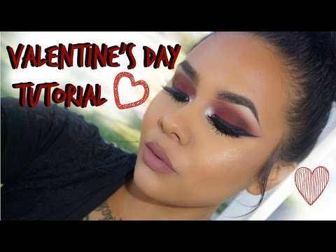 Valentine's Day Makeup Tutorial 2016 Bold Red Smokey Eyes