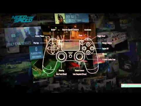 Need For Speed 2015 Dual Shock 4 Button Layout Phone Apps Brake Nitrous Acceleration Camera Youtube