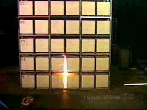 Teste de Sprinkler 2 Tyco K 25 ESFR 45' Storage front xvid