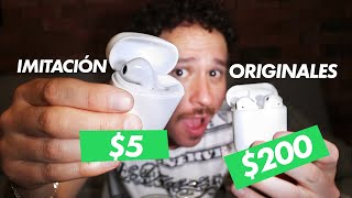 Compré unos AirPods PIRATAS por $5 | ¿Qué tan malos son?
