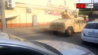 Американские военные внедорожники патрулируют улицы Одессы