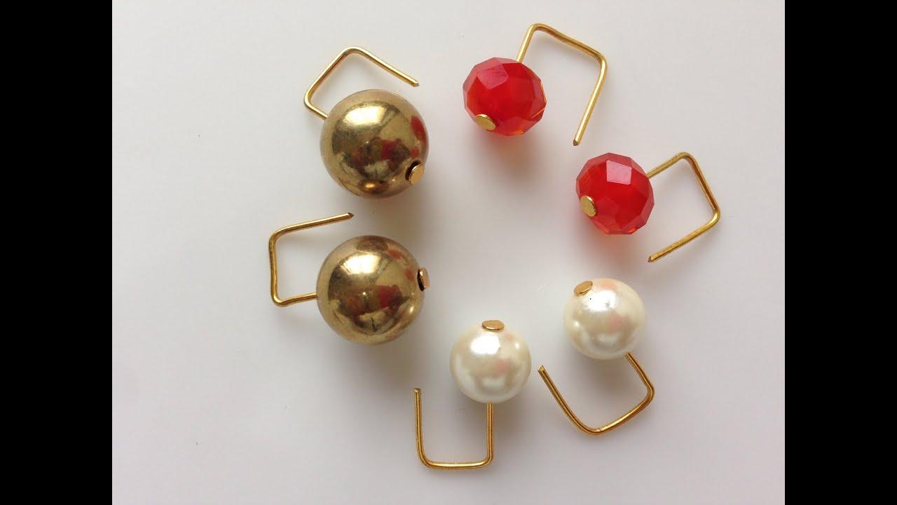 How to make earring | DIY | make Beaded and pearl Earring ...