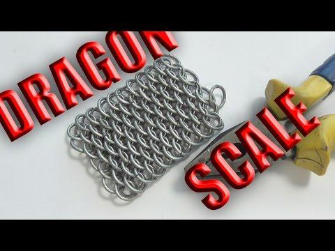"""Плетение """"Драконья чешуя"""". Кольчуга. Как сделать кольчугу? Урок 4."""