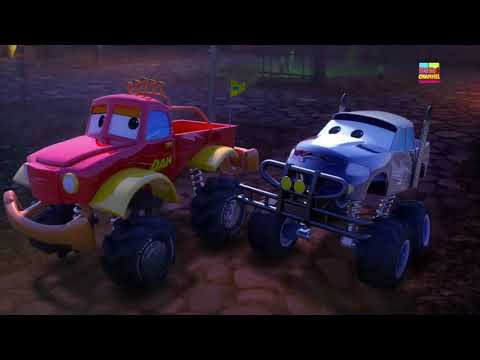 Monster Truck Dan | Scary Flying Shark | Kinderg  | DC Kids action movies | HC Spiderman 3D Cartoon