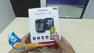 Transcend Dashcam DrivePro 230 Unboxing and real World review