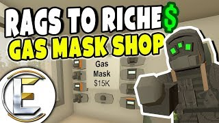 Gas Mask Shop | Unturned Roleplay (Rags to Riches #58) Cheap Gas Masks