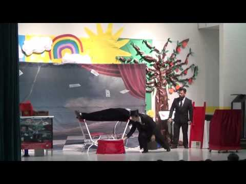 David Sage performs Suspension Illusion at Sam Houston Elementary