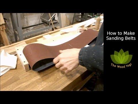How to make Belt Sander or Grinder Belts for the Matthias Wandel 6x48 Belt Sander