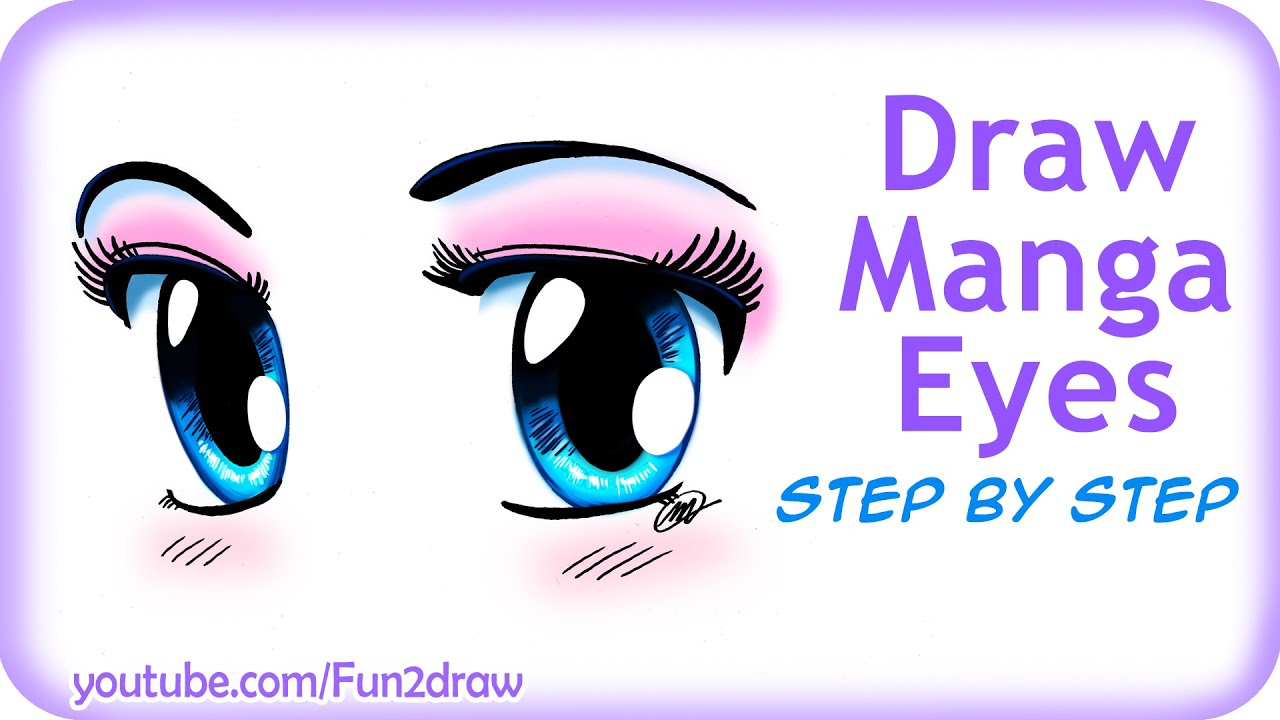 How to draw easy manga eyes youtube ccuart Image collections
