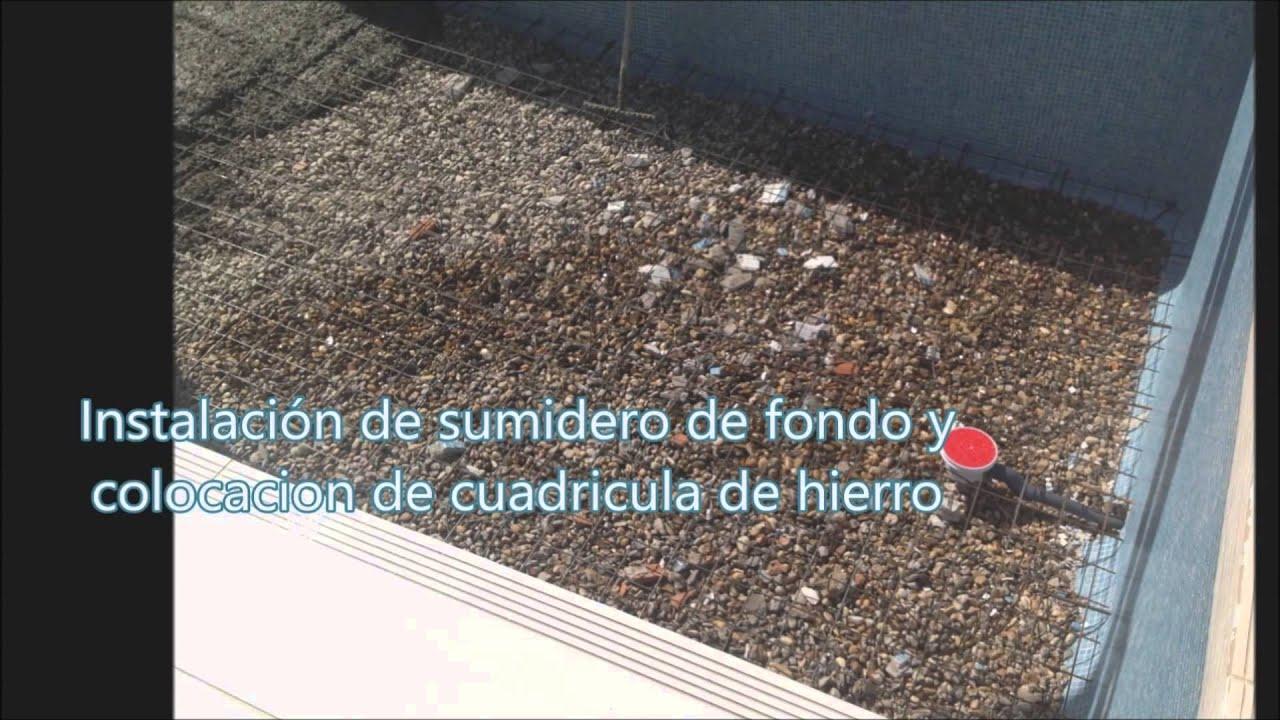 Rehabilitacion de piscina en pozuelo 30 04 13 youtube for Rehabilitacion en piscina