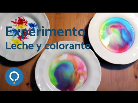Experimento de leche y colorante