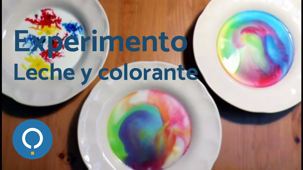 Experimento de leche y colorante  YouTube