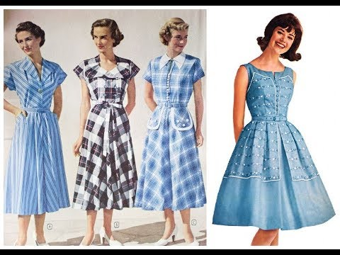 Retro Fashion Trend\u003dVintage Style Dress Pattern Design Ideas 2019,20