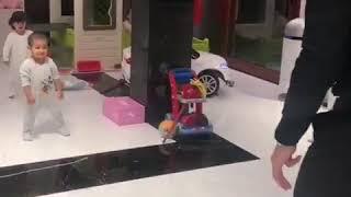 Cristiano Ronaldo-Cristiano Ronaldo play with baby in loving home