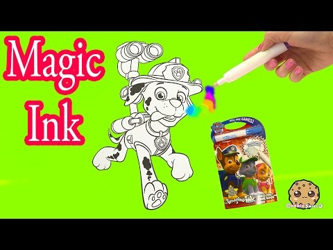 Paw Patrol  Imagine Rainbow Ink Book With Surprise Color Pictures Cookieswirlc Video