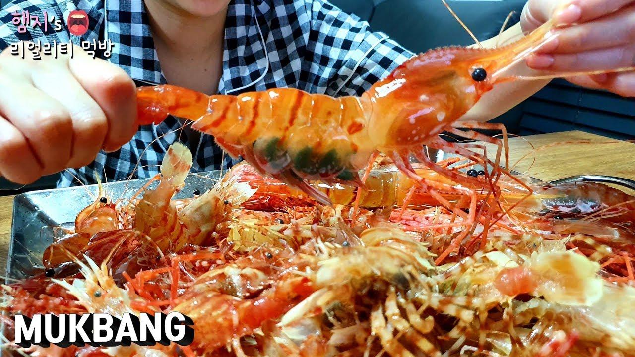 리얼먹방:) 독도새우,닭새우!! 이렇게 비싼 음식도 먹어보고 유튜브하길 잘했다...ㅣBIG Shrimp(raw)ㅣいせエビㅣMUKBANGㅣEATING SHOW