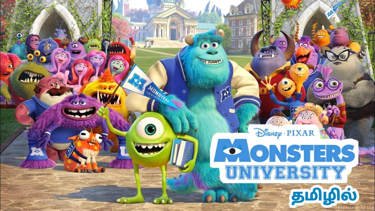 Download Tamil Dubbed Animation Movie - Monsters University (2013) | Disney Tamil Dubbed Animation Movie