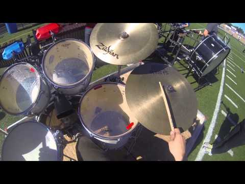 revere marching band - drum set cam