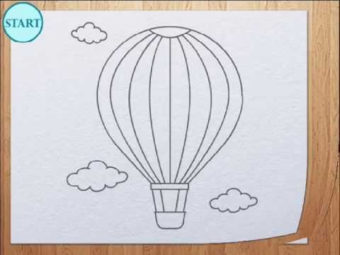How to draw air balloon  YouTube