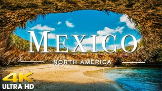 FLYING OVER MEXICO (4K UHD) - Amazing Aerial Views of the Earth with Relaxation Music