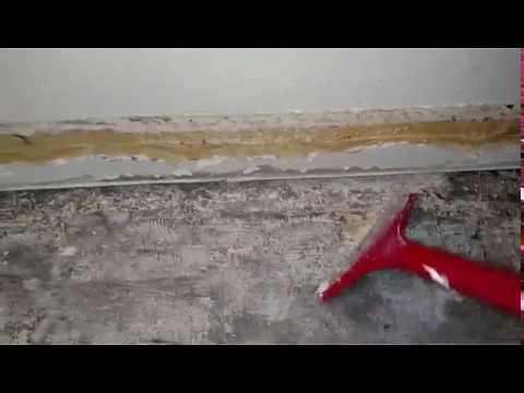 Removing Linoleum On Concrete Floor Youtube