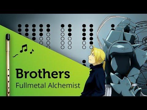 Brothers (Fullmetal Alchemist) on Tin Whistle D + tabs tutorial