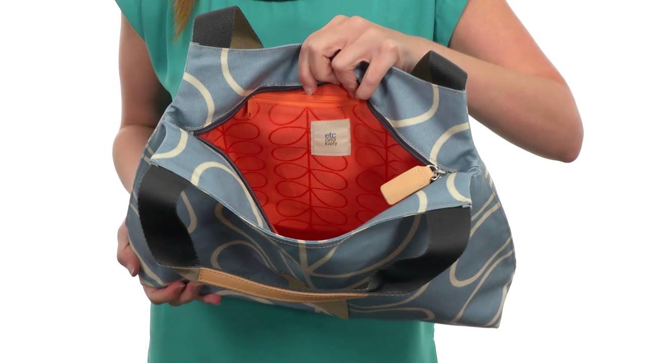 Orla Kiely Matt Laminated Giant Linear Stem Print Classic Zip Shoulder Bag  SKU 8556356 f6a643244566b