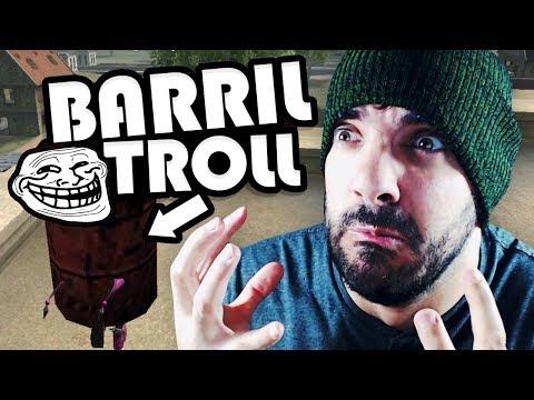 USO EL NUEVO CAMUFLAJE DE BARRIL EN FREE FIRE *Trolleando* | iTownGamePlay