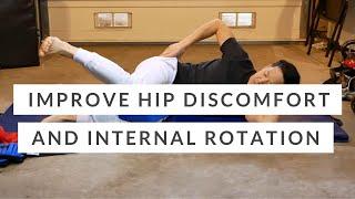 Hip internal rotation / Outer hip strength - Tensor fascia lata, glute minimus + medius exercise