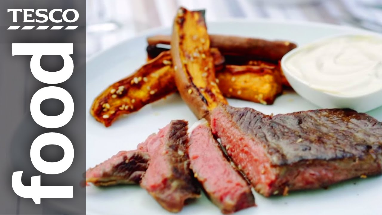 How To Cook Steak And Sweet Potato Chips Tesco Food