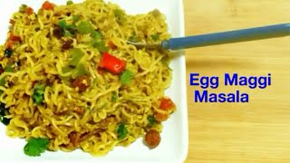 Egg Maggi Masala Recipe ||Bachelors recipe || Street style Egg maggi Masala | Delicious Food Recipes