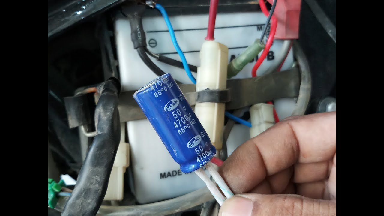 small resolution of bike weak battery problem solve by using a capacitor easy at homebike weak battery problem solve