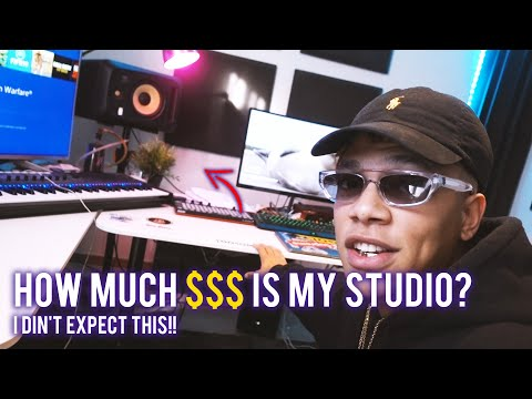 HOW MUCH $$$ DOES MY BEATMAKER HOME STUDIO COST??? (Music Producer Studio Set Up & Equipment)