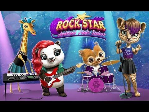 Rock Star Animal Hair Salon - Wild Pets Music Band - TutoTOONS Games for Kids