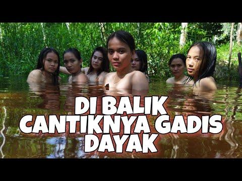 GADIS cantik Dayak Kalimantan|mandi di sungai dan masak-masak