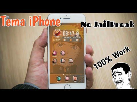 cara ganti tema iphone mudah tanpa jailbreak ios youtube