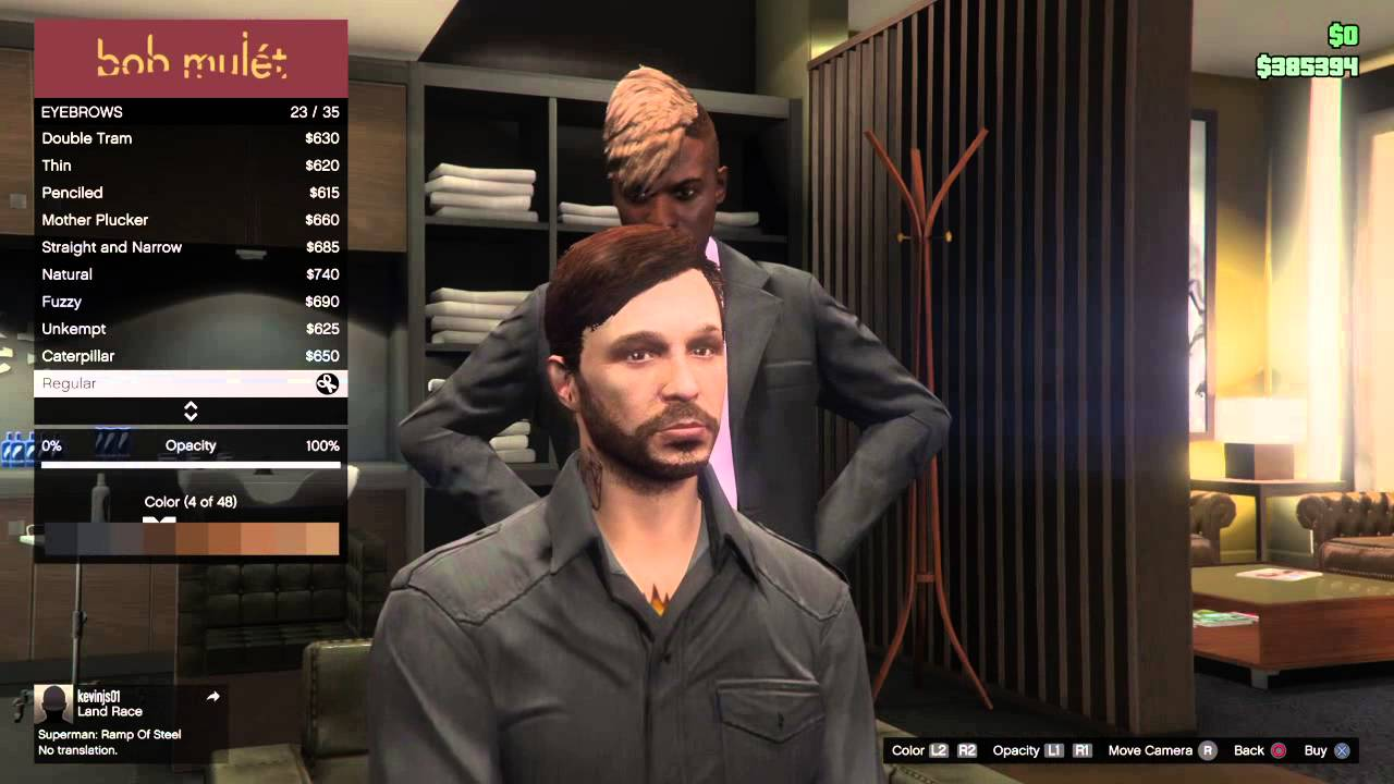 Gta Online Male Hairstyles Ps4 Youtube