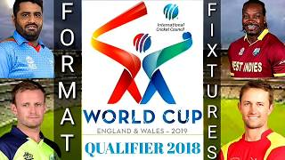 ICC Cricket World Cup Qualifier 2018 Fixtures Format | Match Schedule and Venues ( English )