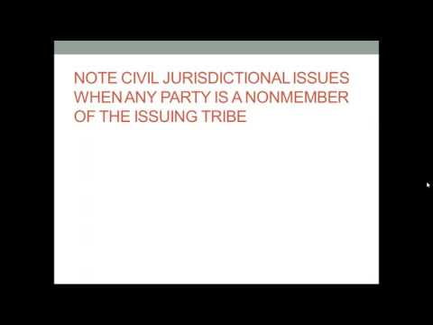 Tribal Protection Orders - Contempt and Tribal Protection Or