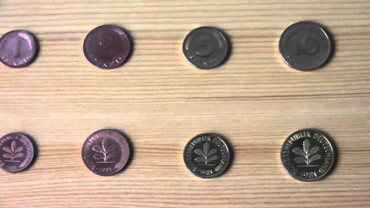 Die Gute Alte D Mark Alle Dm Münzen 1 Pfennig Bis 5 Mark In High