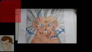 HOW TO DRAW GOHAN SSJ5 DRAGONBALL AF STEP BY STEP FULL COLOR JIJI