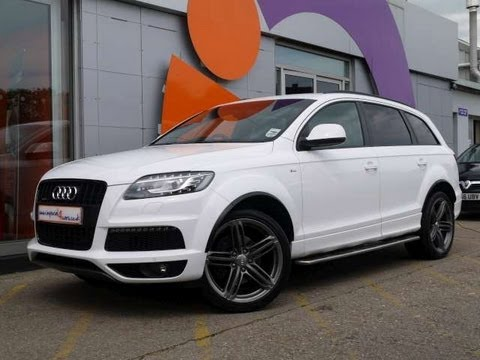 2011 audi q7 s line 3 0tdi 245 clean diesel white for sale in hampshire youtube. Black Bedroom Furniture Sets. Home Design Ideas