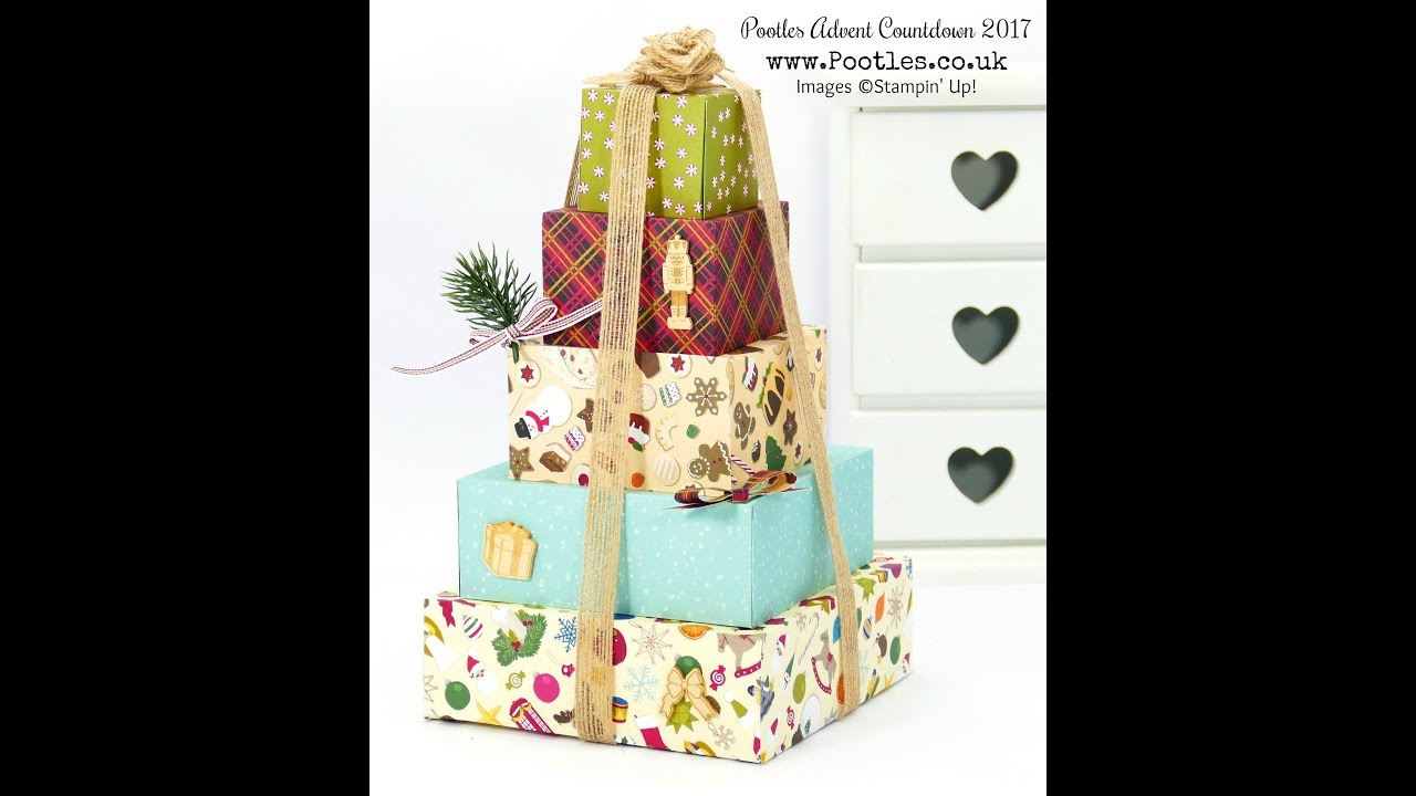 Download Pootles Advent Countdown 2017 #3 Stack of Christmas Gift Boxes