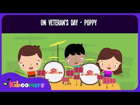 The Poppy Song for Kids  Veterans Day Songs for Children  The Kiboomers